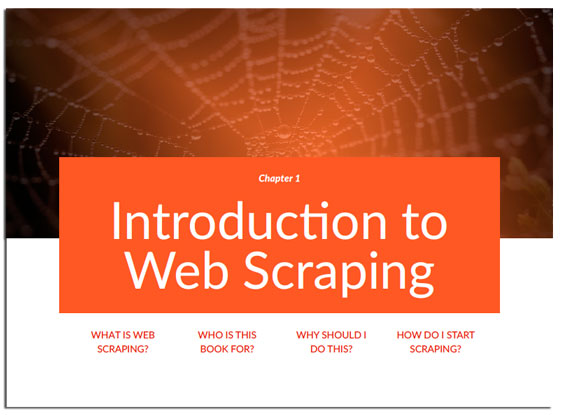 Chapter 1 of Web Scraping Secrets Exposed, Introduction To Web Scraping