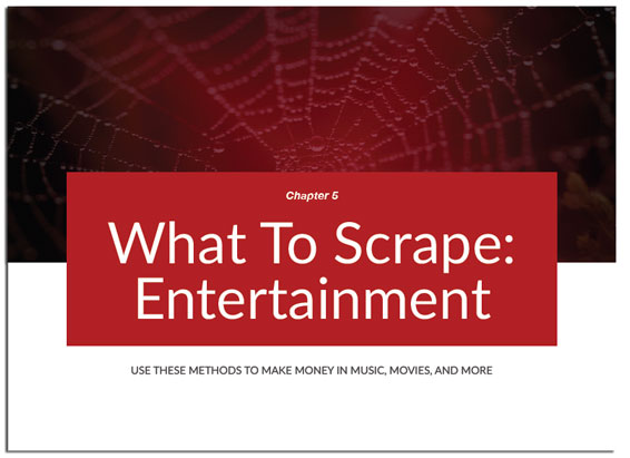Chapter 5 of Web Scraping Secrets Exposed, Scraping Entertainment Sites (Movies, Games, imdb)